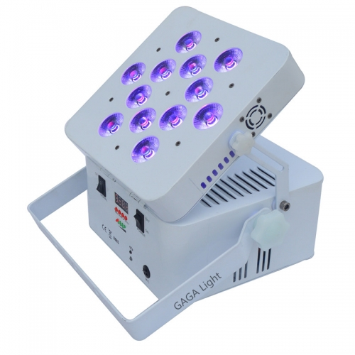 LED 12x18W RGBWA+UV Battery Powered WIRELESS DMX Par Can DJ Uplighting